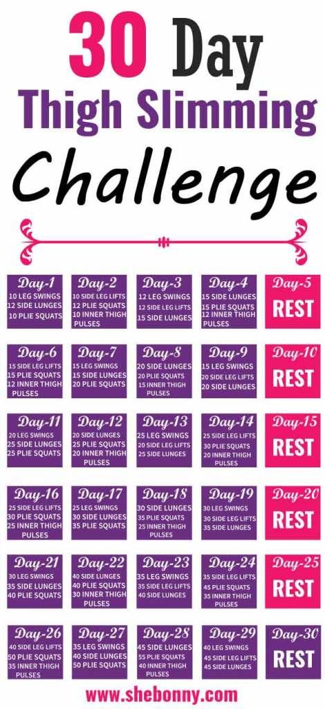 30 Day Inner Thigh Challenge