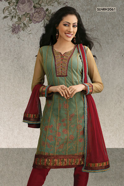 Graceful Churidar Salwar Kameez for Model Girls  SheClickcom