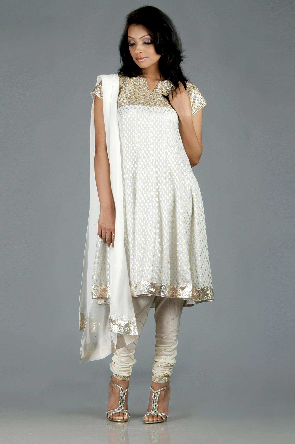 Latest White Salwar Kameez Designs  SheClickcom