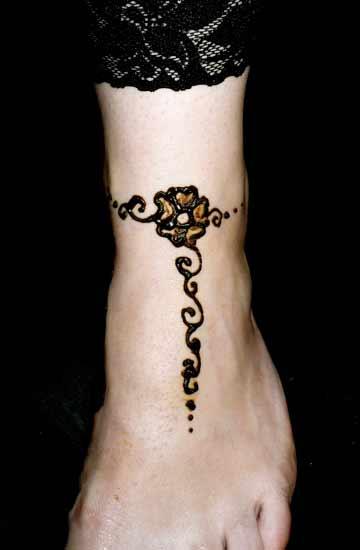 Henna Anklet Designs  SheClickcom