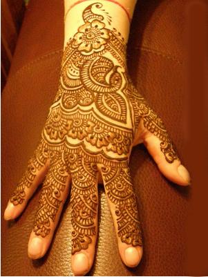 Backhand mehndi design  SheClickcom