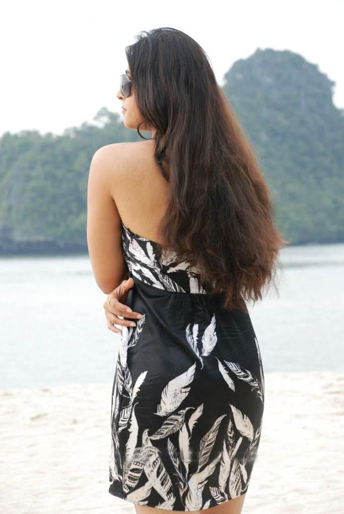 Model Anushka Backless Dress Fashion  SheClickcom
