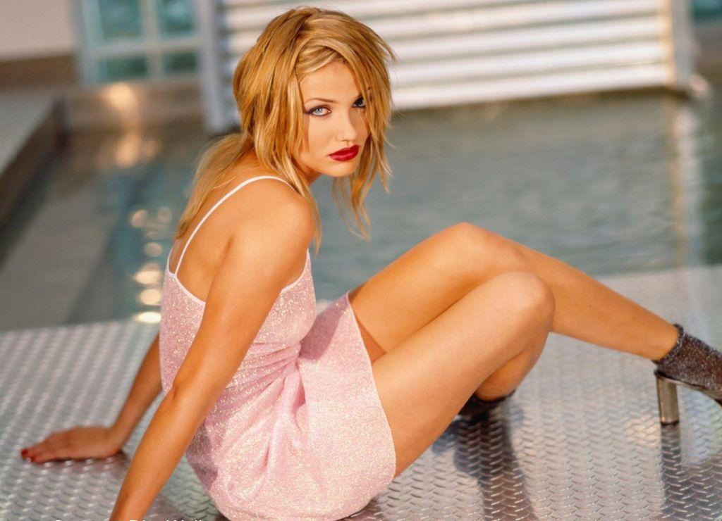Cameron Diaz Hot Fashion Dress  SheClickcom