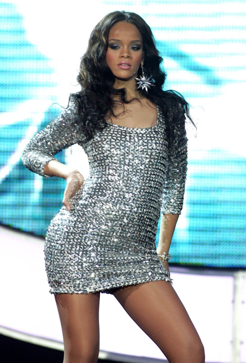 Singer Rihanna Wears Short Dress  SheClickcom