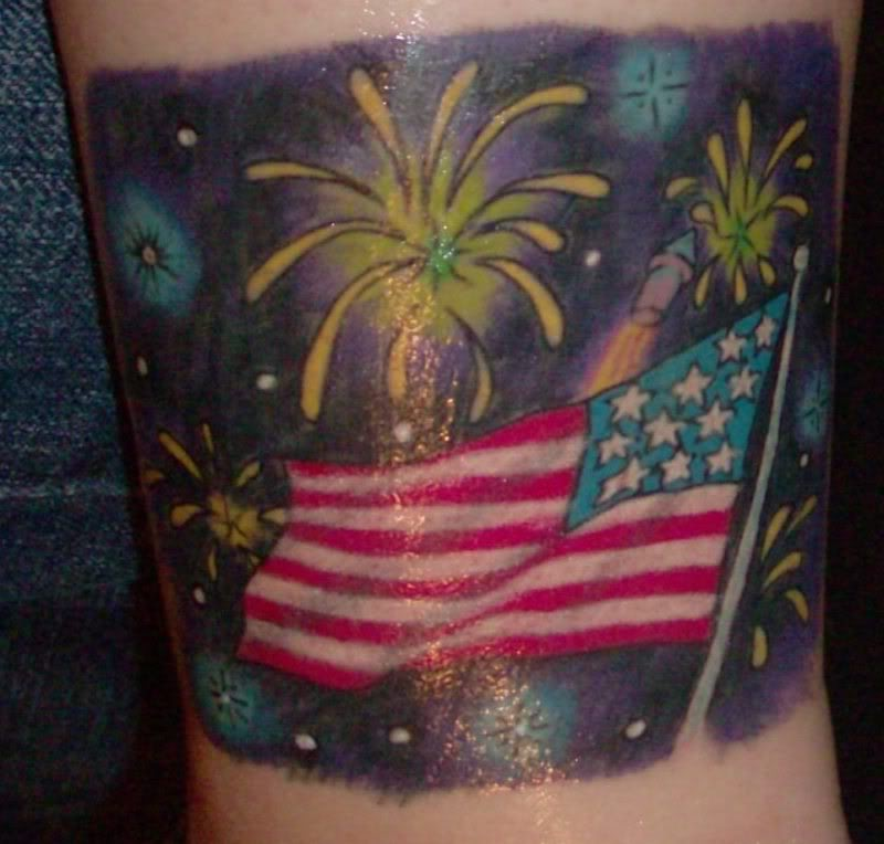 American Flag Tattoo Design Picture  SheClickcom