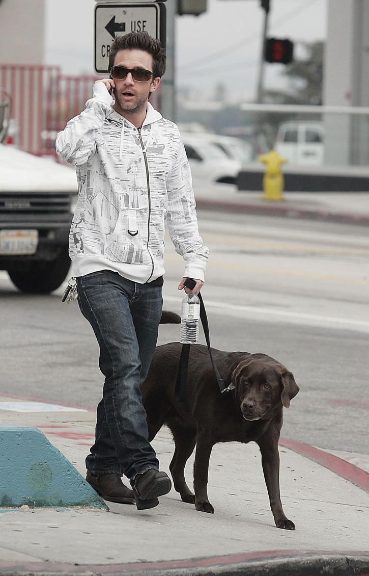 David Faustino with His Dog  SheClickcom