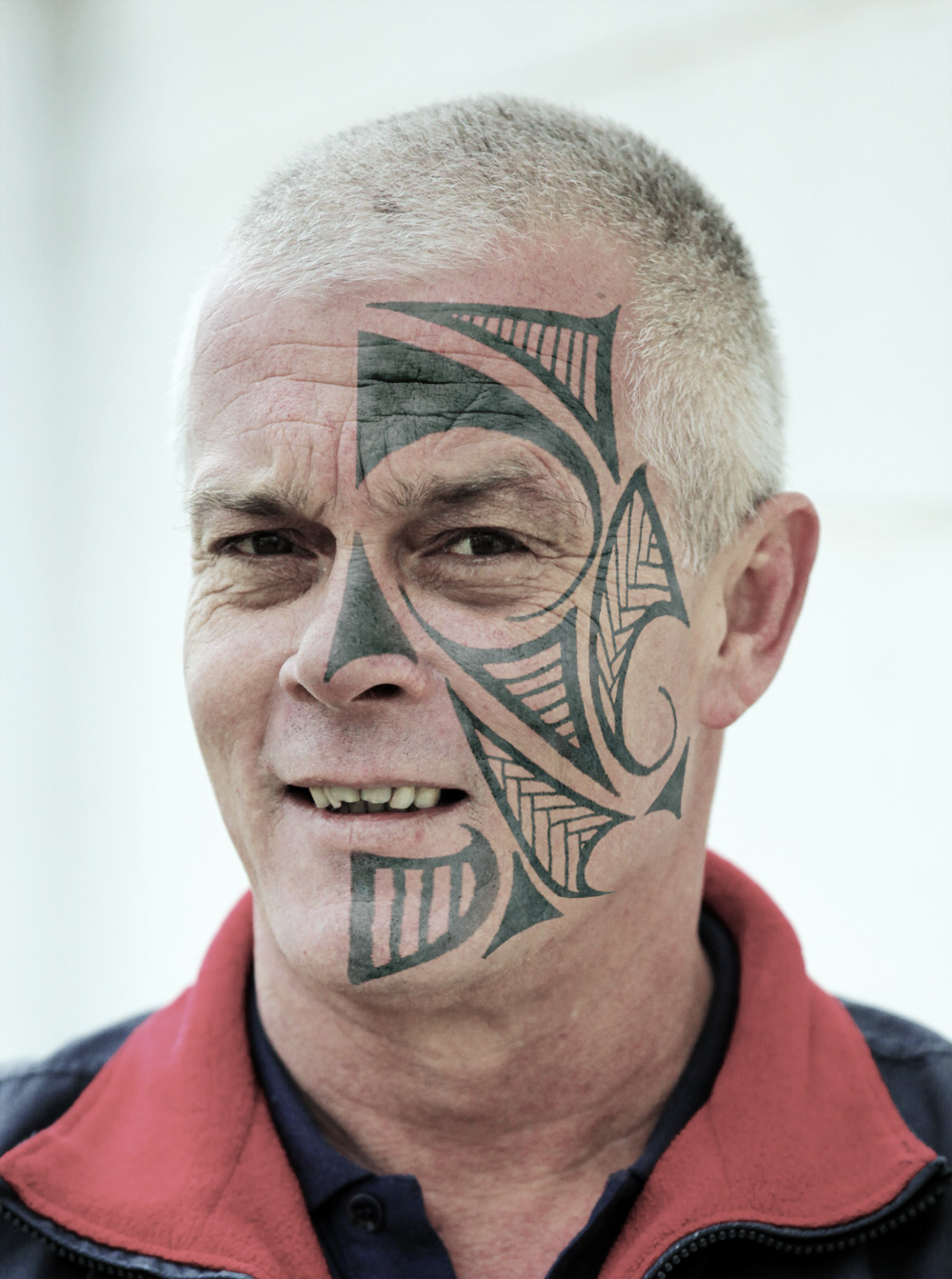 New Face Tattoo Design For Old Men