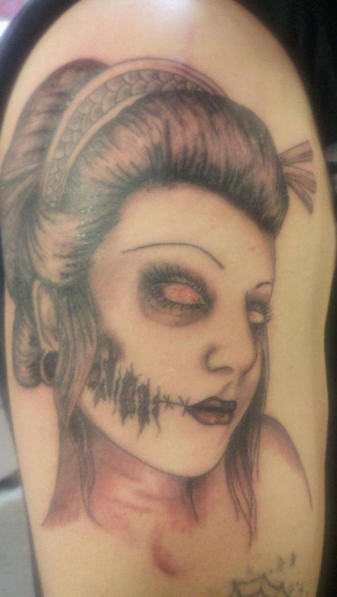Cute Zombie Tattoo Design for Guys 2011  SheClickcom