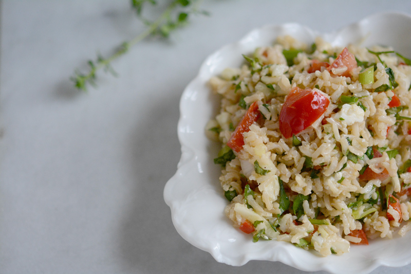 Lemony Brown Rice Salad