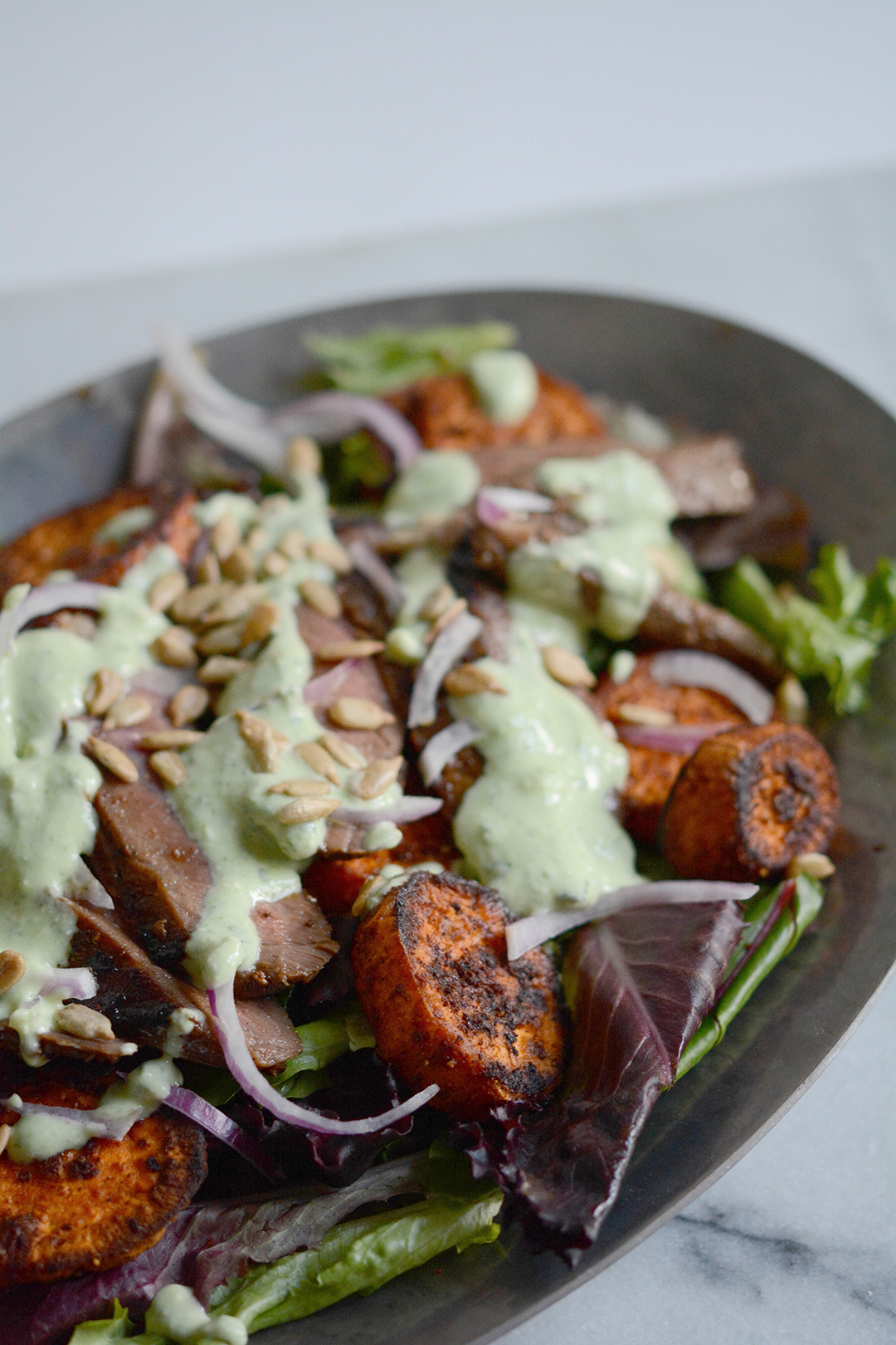 Grilled Steak and Sweet Potato Salad