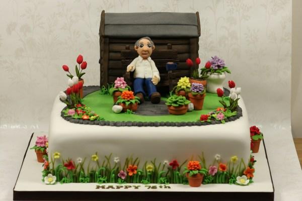 Male Gardener Cake Topper