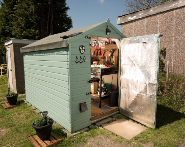 The Team Unlimbited shed owned by Stephan Davies from Swansea is