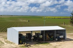 Built strong and built right to last a lifetime, our Australian made rural sheds withstand the demands of farm life and Australia's climate because they're built using the premium quality steel products and market leading, galvanised Morinda™ brackets and joints.