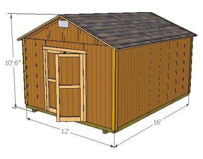 Storage Shed Plans 12X16