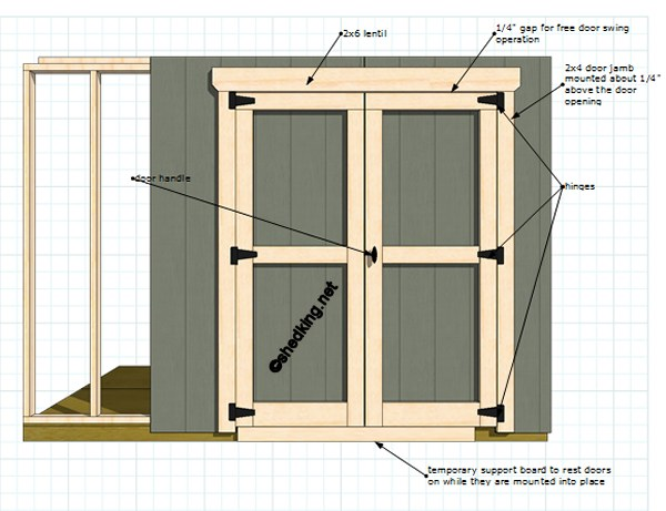How To Build A Shed Door Frame