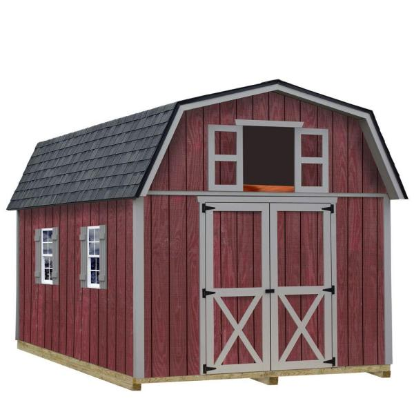 Barns Woodville 10x12 Wood Shed Free Shipping