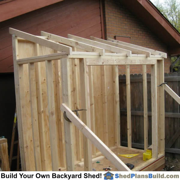 Single Pitch Roof Shed Plans Amazing House Plans