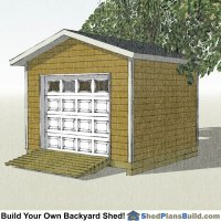 12x12 Garage Door Storage Shed Plans
