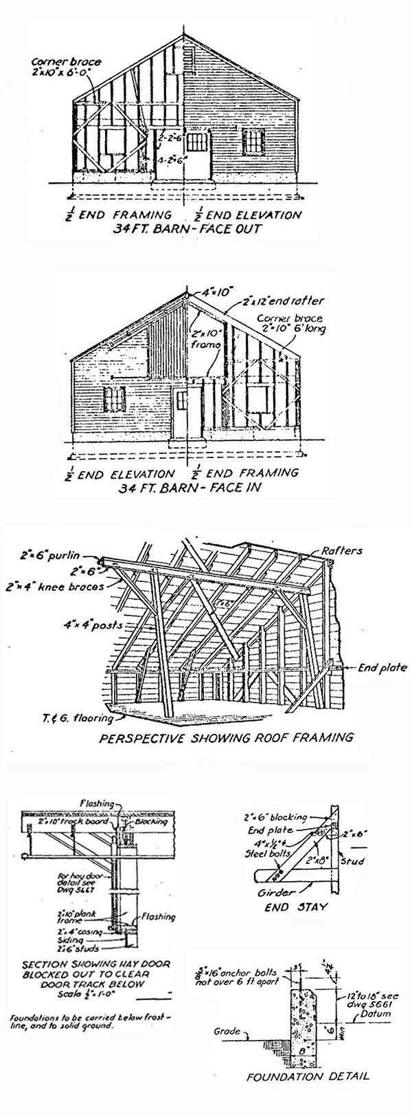 34×36 Large Shed Plans