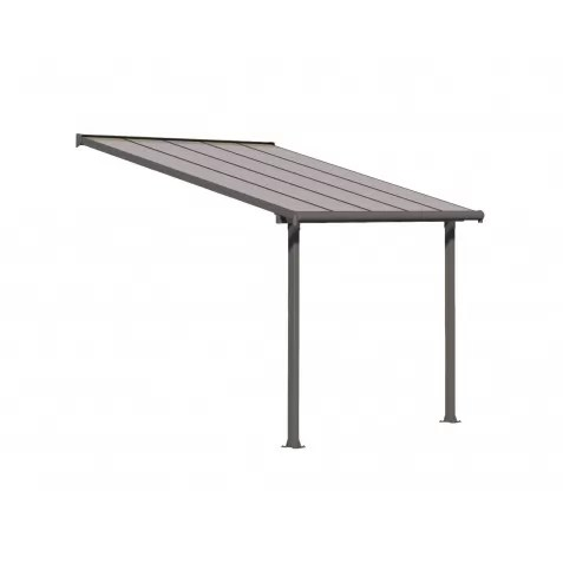 palram 10x10 aluminum olympia patio cover kit gray bronze hg8810