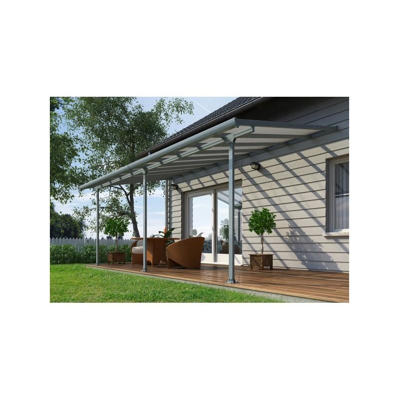 palram 10x42 feria steel patio cover kit gray hg9442