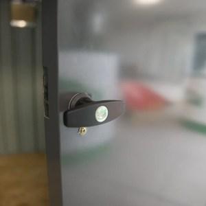 Door detail on the Steel Bin Store