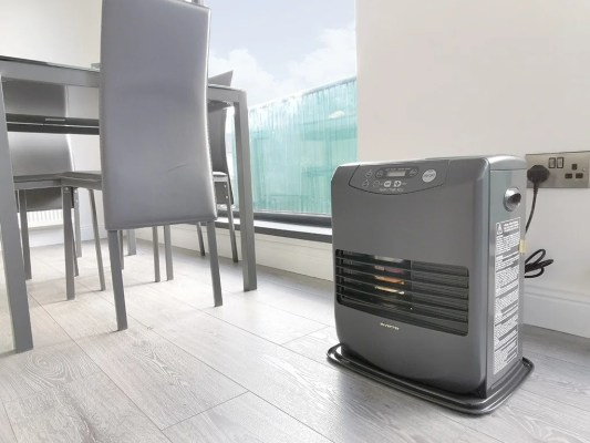 The Inverter Heater in the Dublin showroom of Sheds Direct Ireland