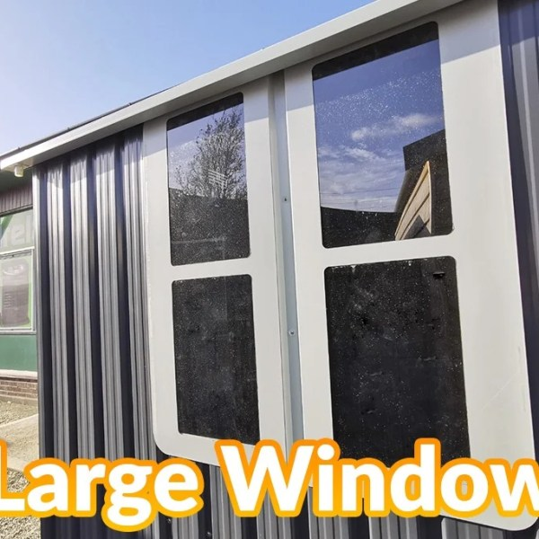 The large window on this steel shed, cottage style 10ft x 6ft