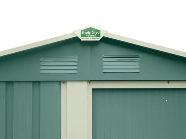 The shed cap on the top of the Olive-green version of the tiny shed. It's also silver and green.