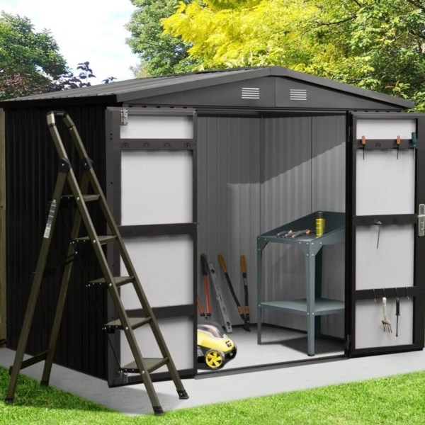 8ft wide x 6ft deep Premium Steel Shed