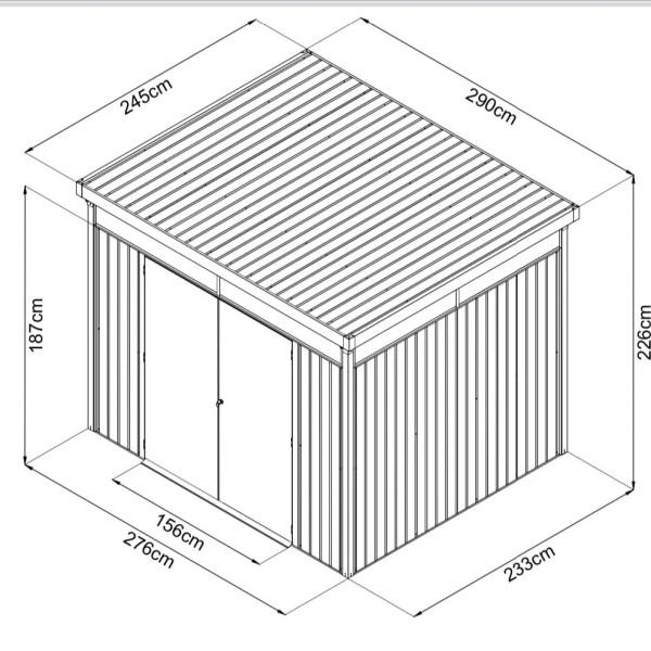 Premium Panoramix Shed Dimensions
