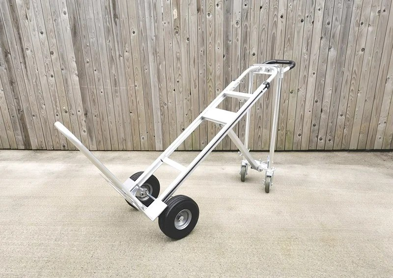 The transforming silver handtruck from the DIY Products and Hand trucks range