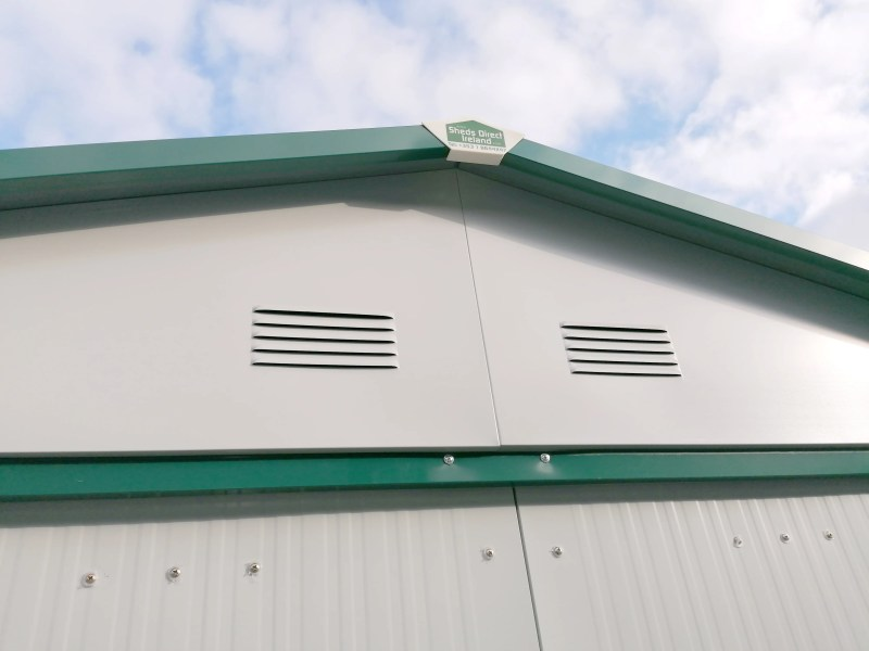 The built-in metal air vents on the 8ft x 6ft Steel Garden Shed