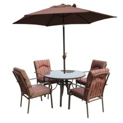 2 Seater Table And Chairs B M Chair Cover Rentals Daytona Beach Fl 4 Amalfi Stripe Round Set With Parasol 105cm
