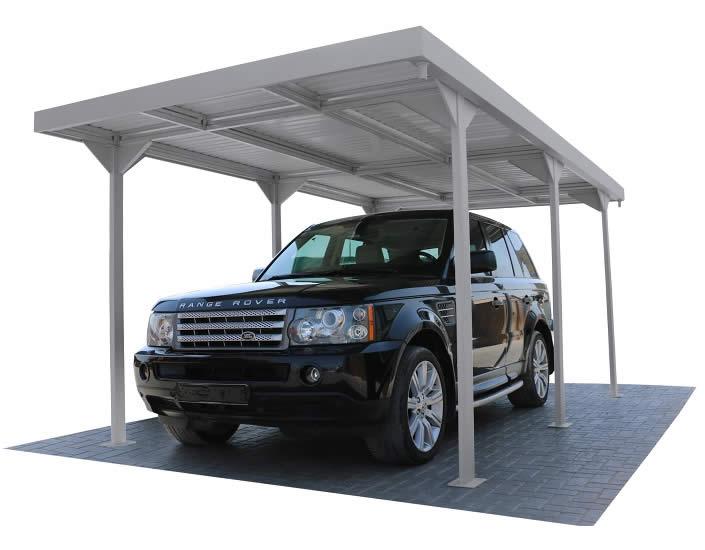 DuraMax 9x17 Palladium Carport Shelter Kit Silver 10072