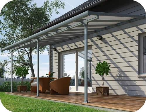 palram 10x24 feria patio cover kit gray