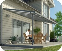 Palram 10x28 Feria Patio Cover Kit - Gray (HG9428)