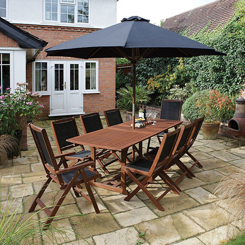 dine alfresco with a new garden table