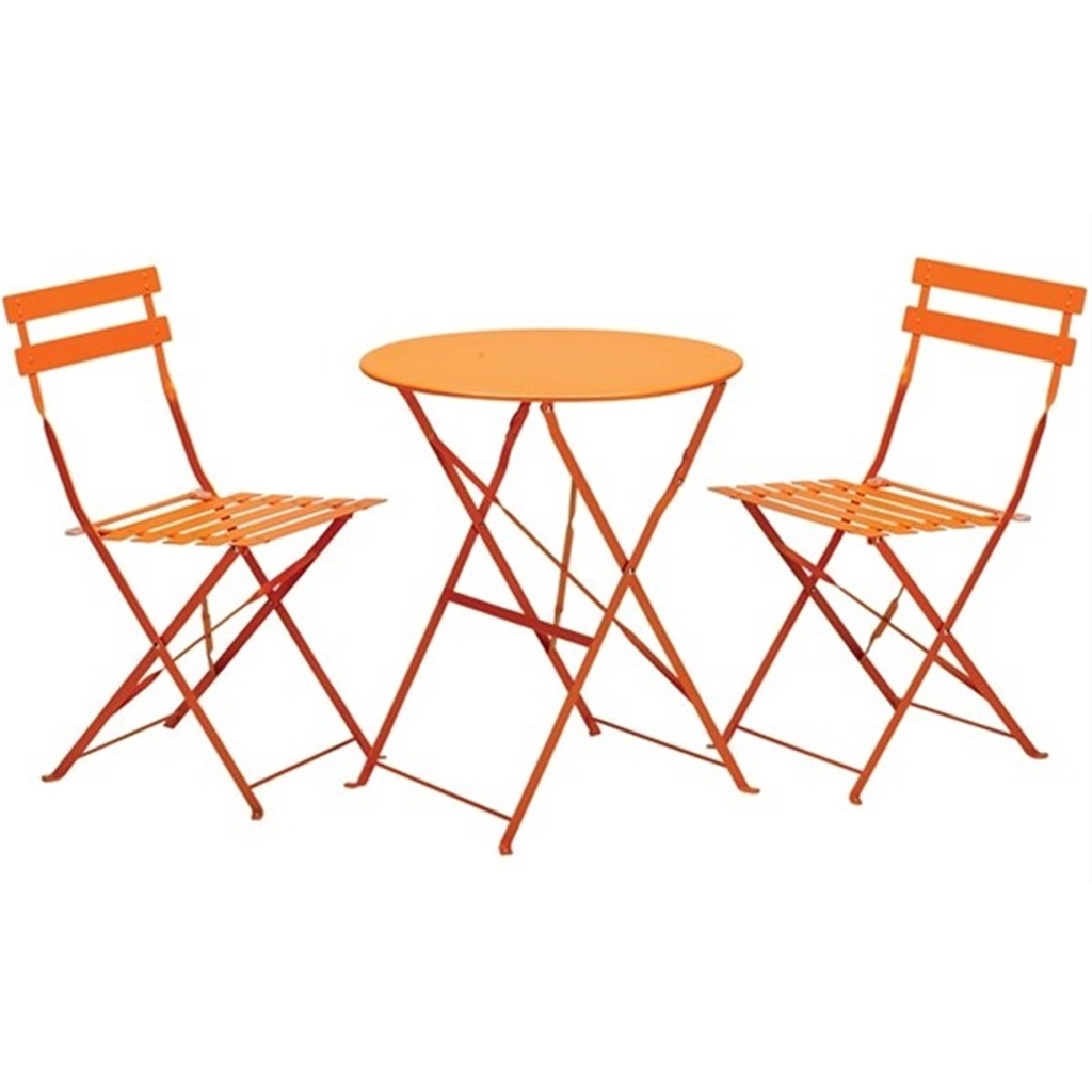 orange cafe chairs cow print office chair with arms shedswarehouse garden furniture bistro sets 2
