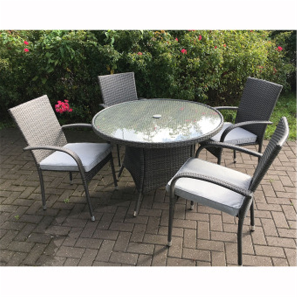 grey weave garden chairs dining set of 2 shedswarehouse furniture marlow flat