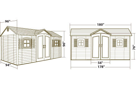 Lifetime Garden Shed 15 X 8 Dual Entry Storage Shed