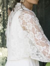 Sheeebz - Bridal Boleros - White bridal lace shawl