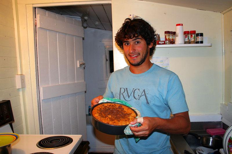 Cassiano mit dem Bananenkuchen