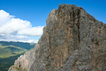 Der Arzalpenkopfgipfel von weiter unten betrachtet