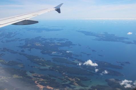 Anflug auf Stockholm