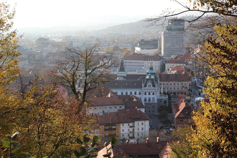 Blick von der Burg in die Innenstadt Ljubljanas