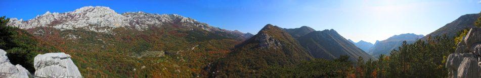 Erster Ausblick auf die Paklenica Gipfel