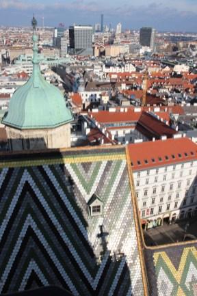 Blick auf Wien vom Stephansdom - Südturm