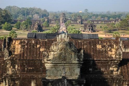 Blick zurück auf den Eingang von Angkor Wat