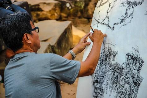 Künstler in Ta Phrom